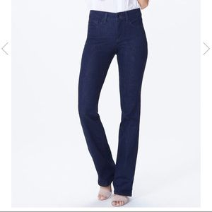 NYDJ Straight Stretch Dark Wash Jeans